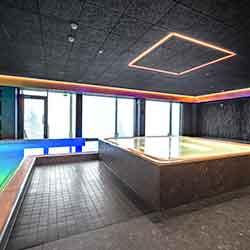 Cewood, akustiikkalevy, kylpylä, uimahalli, akustiikkalevy kosteisiin tiloihin