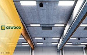 Cewood, akustiikkalevy, akustiikkalevyt, akustiikkalevy seinään, akustiikkalevy kattoon, akustiikkapaneeli, liikunta, akustiikkalevy liikuntahalliin, akustiikkalevy liikuntasalii, maaningan halli