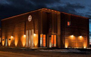 Cewood, akustiikkalevy, akustiikkalevyt, hirsitalo, akustiikkalevy seinään, akustiikkalevy kattoon, akustiikkapaneeli, sisustus, akustiikkalevy sisustukseen, akustiikkalevy julkisiin tiloihin, akustiikkalevyt seurakunta, kontiolahden seurakunta