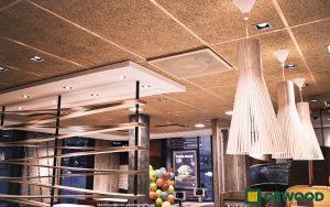 Cewood, akustiikkalevy, akustiikkalevyt, akustiikkalevy seinään, akustiikkalevy kattoon, akustiikkapaneeli, sisustus, akustiikkalevy sisustukseen, akustiikkalevy ravintola, ravintola